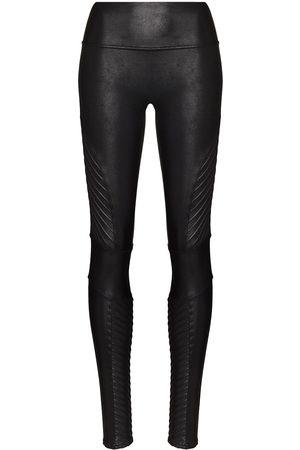 Spanx Women Leggings - Faux-leather high-rise leggings