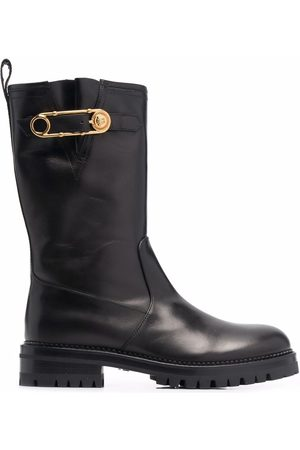 VERSACE Women Boots - Safety Pin mid-calf boots