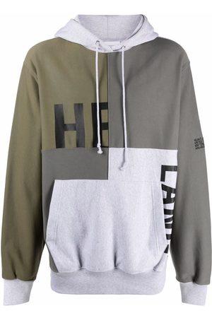 Helmut Lang Men Jumpers - Patchwork logo-print pullover hoodie