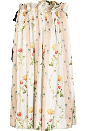 Simone Rocha Women Printed Skirts - Floral-print pleated midi skirt