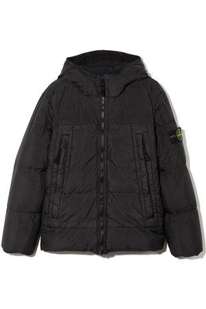 Stone Island Boys Coats - Hooded puffer coat