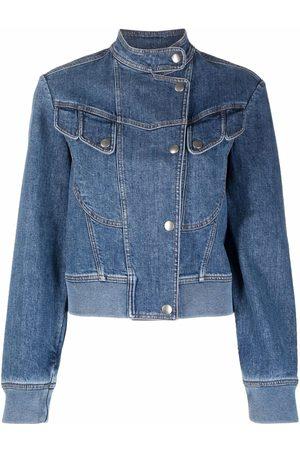 Stella McCartney Mock-neck denim jacket