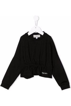 Simonetta Girls Blouses - Rhinestone-embellished logo blouse