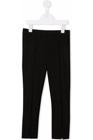 Moncler Girls Leggings - Mid-rise fleece leggings