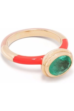 Alice Cicolini Women Rings - 14kt yellow Candy Lacquer Water emerald ring