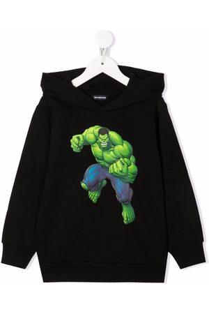 Balenciaga Boys Hoodies - Hulk graphic-print cotton hoodie