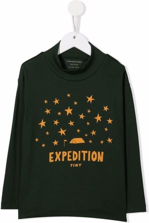 Tiny Cottons Girls Long Sleeve - Expedition print T-shirt