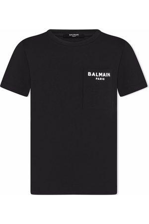 Balmain Logo chest-pocket T-shirt