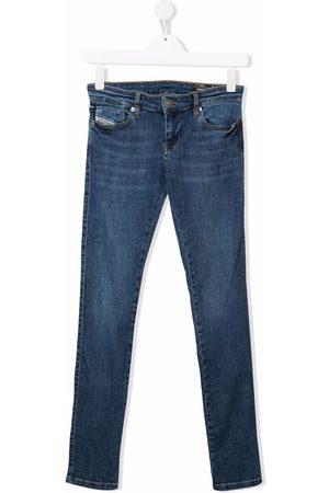 Diesel TEEN mid-rise slim-fit jeans