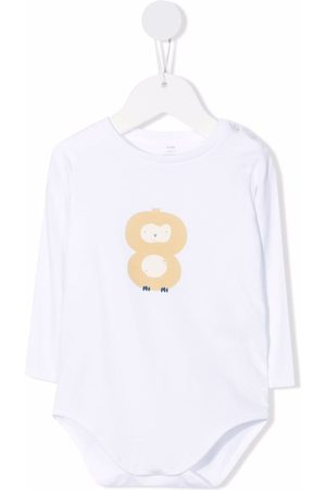 KNOT Baby Rompers - Owl print bodysuit