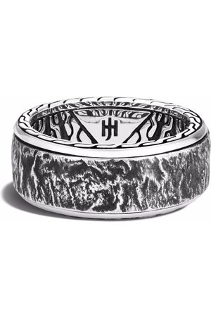 John Hardy Reticulated 10mm rotating band ring