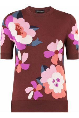 Dolce & Gabbana Floral pattern knitted silk top