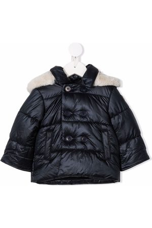 Il gufo Baby Jackets - Contrast-trim double-breasted padded jacket