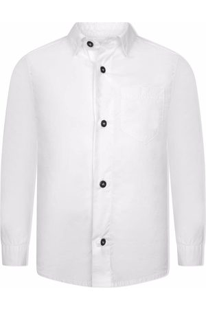Stone Island Compass logo-sleeve shirt