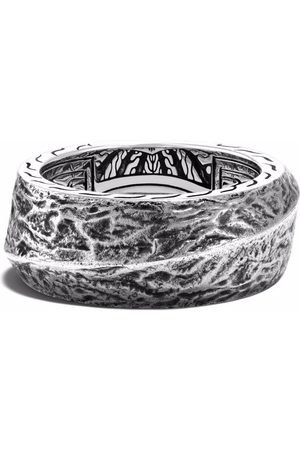 John Hardy Men Rings - Reticulated 10.5mm band ring