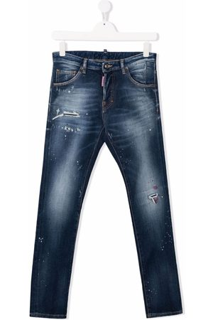 Dsquared2 Boys Straight - TEEN mid-rise straight-leg jeans