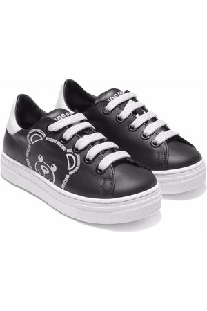 Moschino Teddy bear leather sneakers