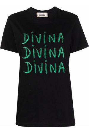 ALESSANDRO ENRIQUEZ Women Short Sleeve - Slogan print T-shirt