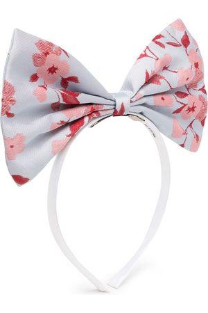 HUCKLEBONES LONDON Girls Hair Accessories - Floral-print bow hairband