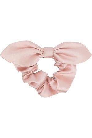 HUCKLEBONES LONDON Bow-Tie ruched scrunchie