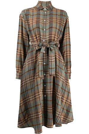 Polo Ralph Lauren Women Casual Dresses - Plaid pattern belted shirtdress