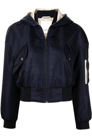 Ports V Cropped hooded bomber jacket