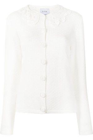 Liya Women Cardigans - Embroidered collar cardigan