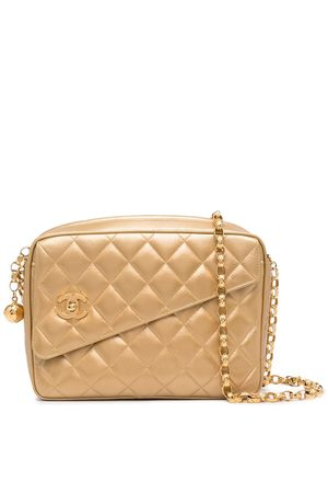 CHANEL Women Bags - 1992 diamond-quilted logo charm camera bag