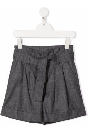 Moncler Virgin wool belted bermuda shorts