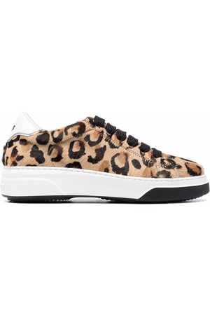 Dsquared2 Leopard-print lace-up trainers