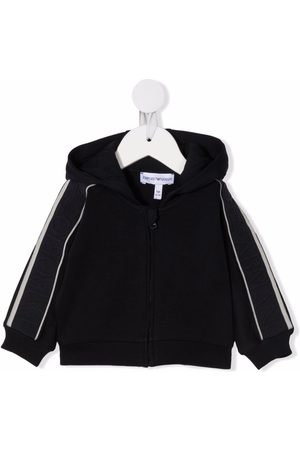 Emporio Armani Baby Hoodies - Zip-up cotton hoodie