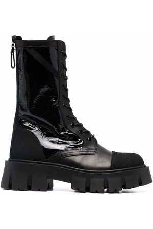 Premiata Women Lace-up Boots - Lace-up leather boots