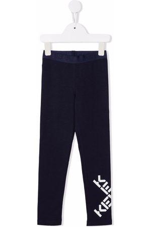 Kenzo Logo-print stretch-cotton leggings