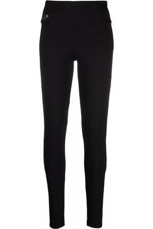 Philipp Plein Women Leggings - Logo skinny-fit leggings
