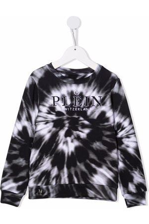 Philipp Plein Girls Sweatshirts - Tie-dye print sweatshirt