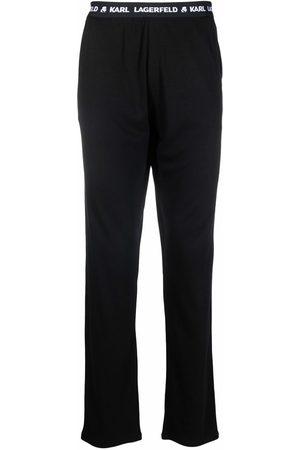 Karl Lagerfeld Logo-waistband pyjama trousers