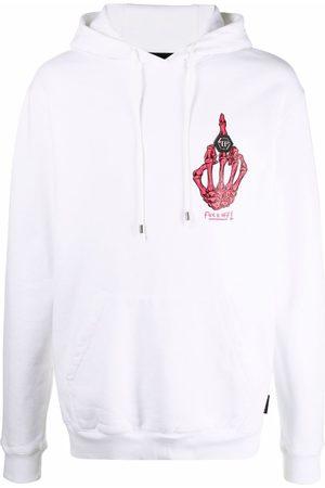 Philipp Plein Skeleton-print cotton hoodie