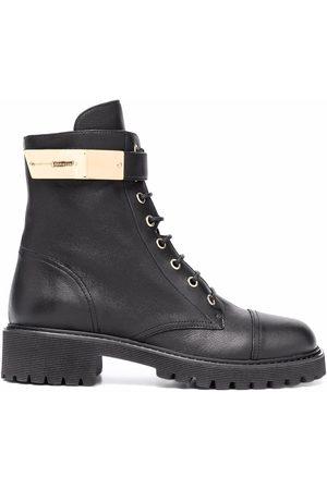 Giuseppe Zanotti Lace-up leather combat boots