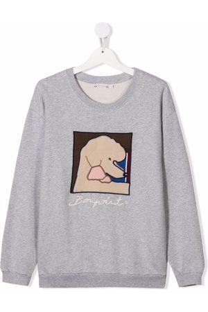 BONPOINT Girls Sweatshirts - TEEN graphic poodle sweatshirt