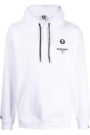 AAPE BY A BATHING APE Logo-print long-sleeved hoodie