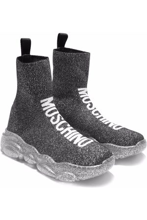 Moschino Girls Sneakers - Logo knitted sneakers