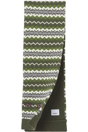 Burberry Girls Scarves - Fair isle knitted scarf