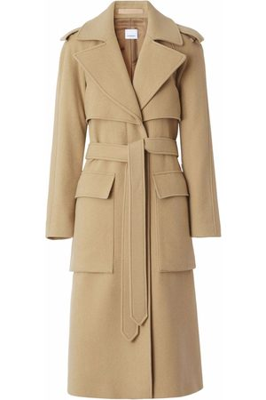 Burberry Women Trench Coats - Mid-length belted trench coat