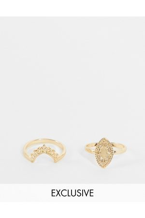 Reclaimed Inspired stacking rings in 2 pack