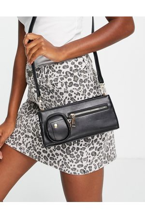 Ego Structured cross body bag with chunky chain strap in