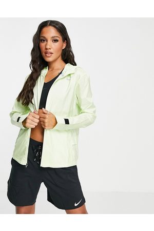 Nike Running Hooded jacket in lime