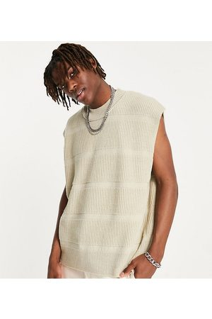 COLLUSION Crew neck tank in oatmeal