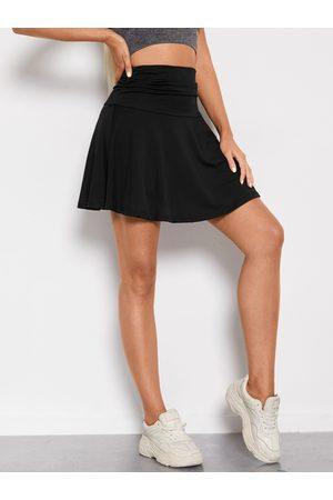 YOINS Sporty Elastic Waist Mini Skirt