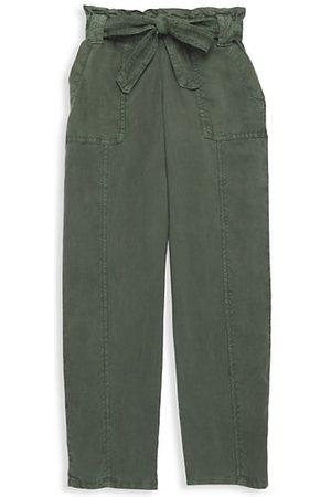 Bella Dahl Girls Cargo Pants - Little Girl's & Girl's Ruffle Waist Seamed Pants