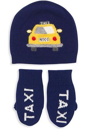 Sofia Cashmere Boys Hats - Little Kid's 2-Piece Taxi Hat & Glove Set